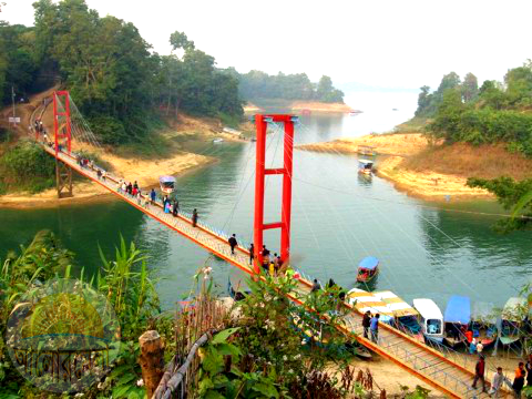 Hanging bridge in Rangamati