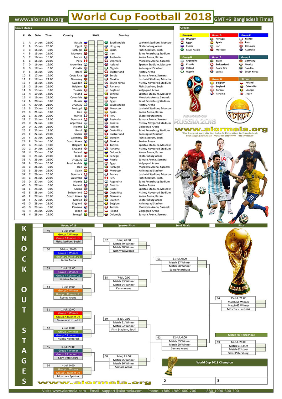 World Cup Football 2018 Schedule