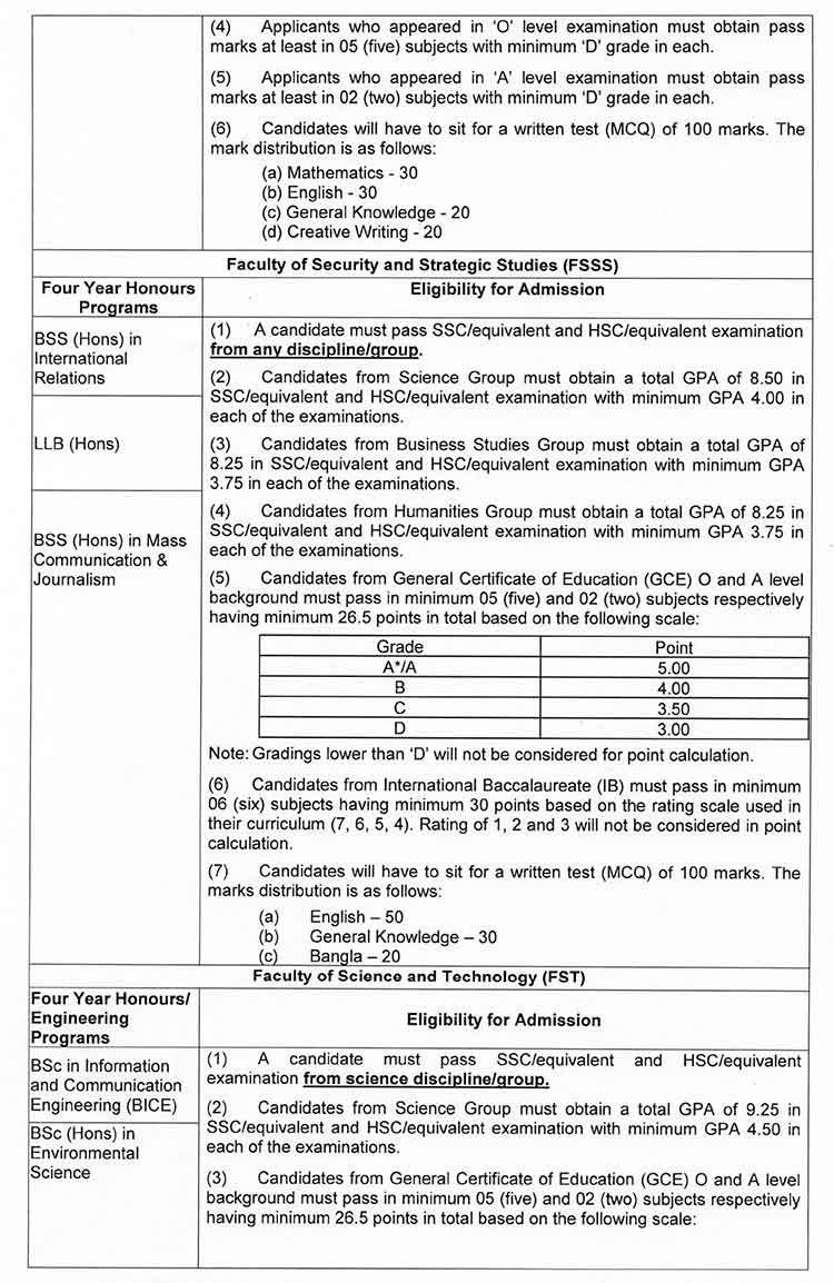 BUP Admission Notice 3