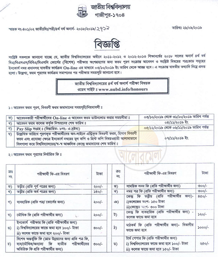 4th year special exam form fill up
